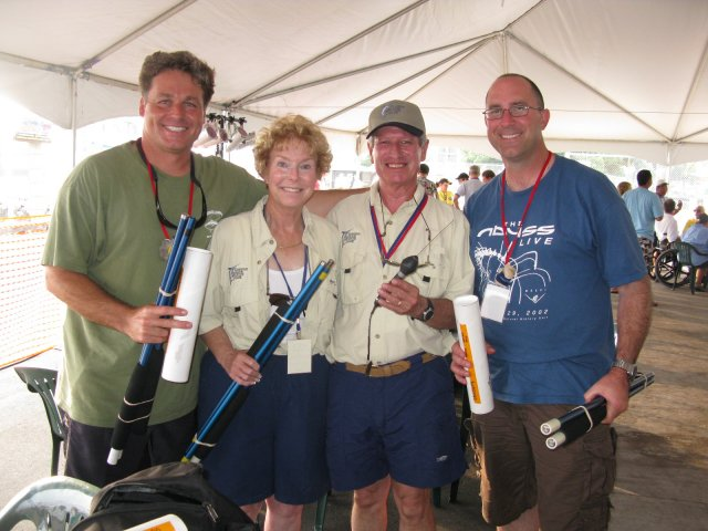 George and Randy with Sally and Bob Kurz of the Laguna Niguel Billfish Club
